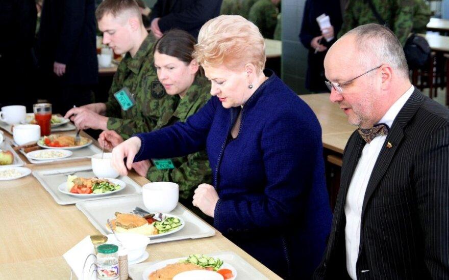 Dalia Grybauskaitė in Rukla