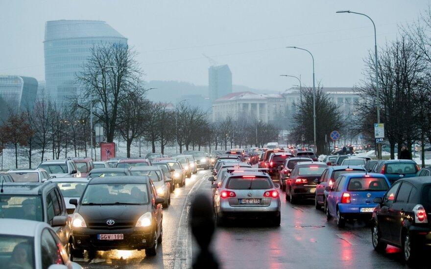 Šventinės spūstys Vilniuje