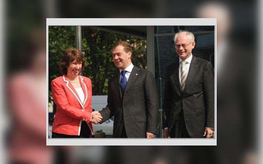 Hermanas van Rompuy, Dmitrijus Medvedevas ir Catherine Ashton
