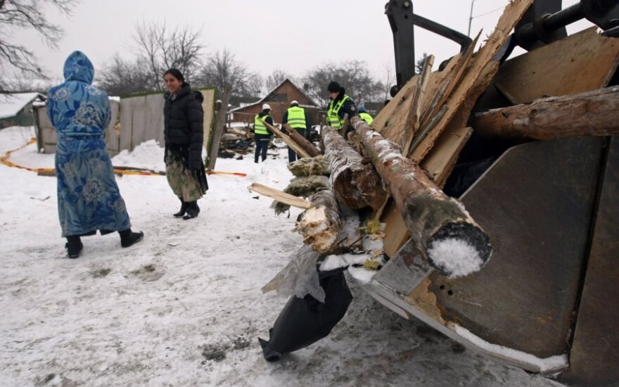 Vilniaus tabore griaunami neteisėti statiniai