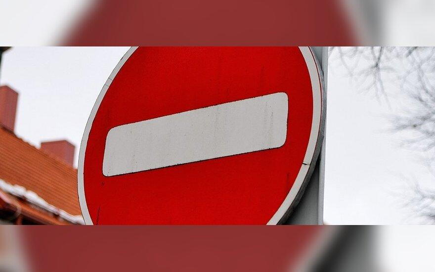 Vilniuje - eismo ribojimai dėl remonto ir inžinerinių tinklų avarijų