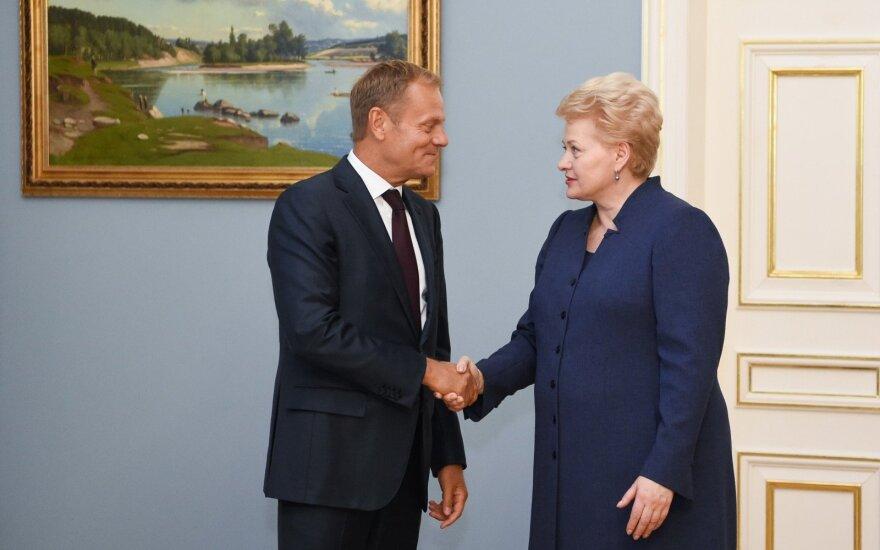 Dalia Grybauskaitė susitiko su Donaldu Tusku