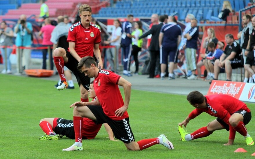 Lietuvos futbolo rinktinės treniruotė (P. Jakelio/Futbolo.tv nuotr.)