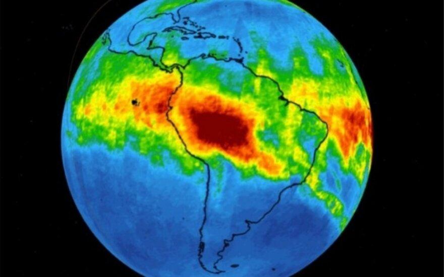 NASA užfiksavo anglies monoksido kiekį atmosferoje