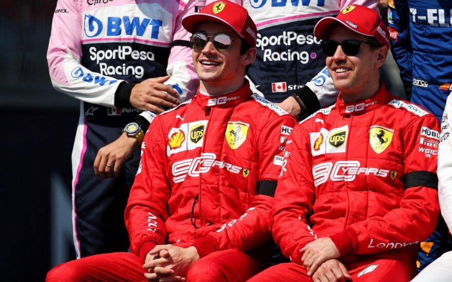 Charlesas Leclercas ir Sebastianas Vettelis