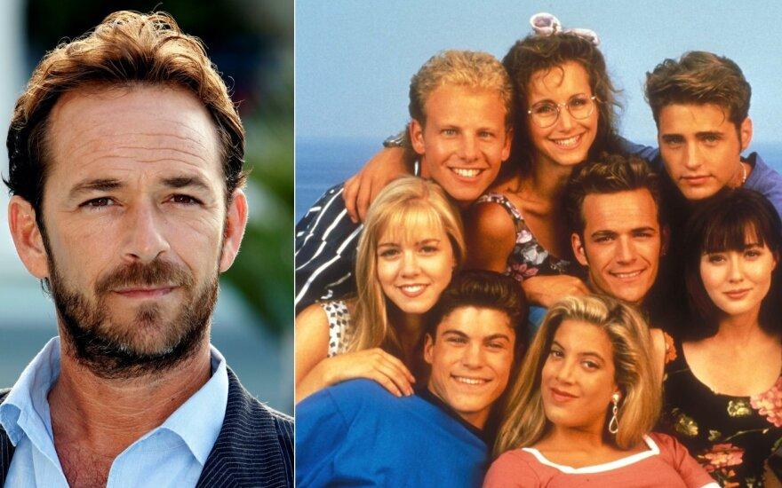 """Luke Perry, serialo """"Beverli Hilsas 90210"""" aktoriai"""