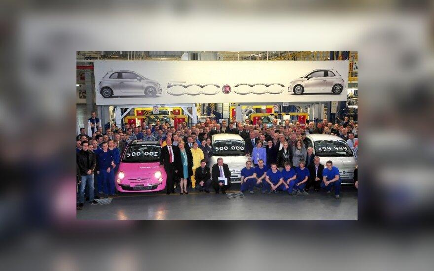 """""""Fiat 500"""" gamyba jau pasiekė 500 tūkst. žymą"""