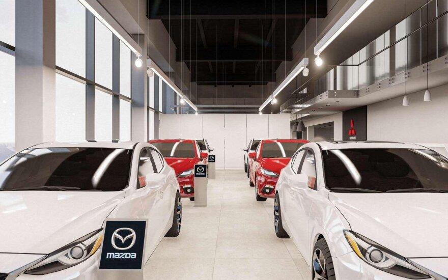"""Vilniuje atidarytas naujas """"Mazda"""" ir """"Mitsubishi"""" salonas"""