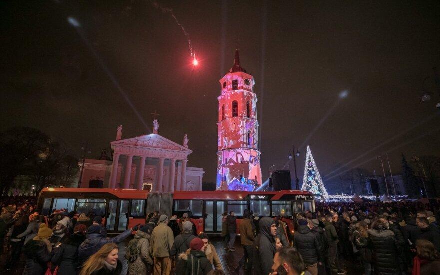 Naujųjų metų naktį Vilniuje – nemokamas viešasis transportas