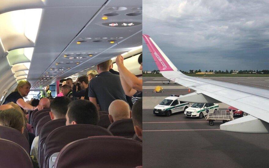 Vilniaus oro uoste policija sulaikė du keleivius.