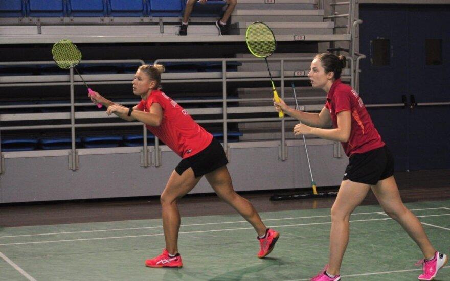 Vytautė Fomkinaitė ir Gerda Voitechovskaja (Lietuvos badmintono federacijos nuotr.)