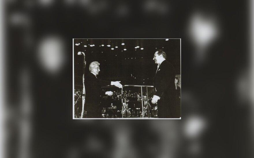 Herbertas von Karajanas ir Saulius Sondeckis