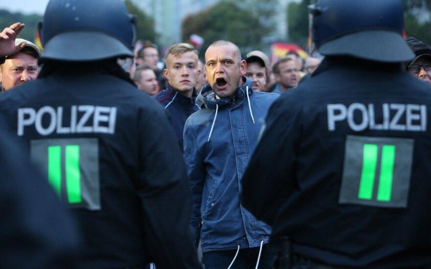 Vokietijoje rengiamas protestas dėl Tiuringijos vadovo rinkimų