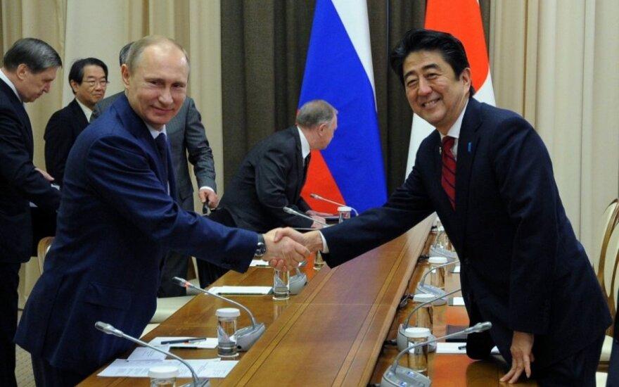 Vladimiras Putinas ir Shinzo Abe