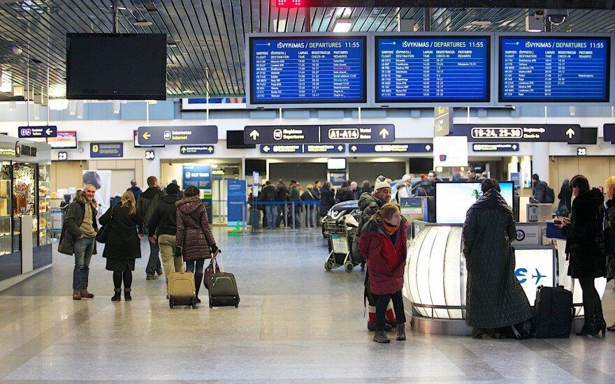 Naujos kryptys oro uostuose paskelbus žiemos skrydžių sezono pradžią