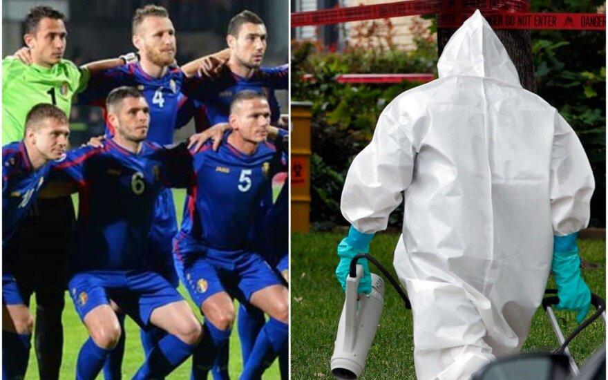 Moldovos futbolininkų planus sujaukė Ebolos virusas
