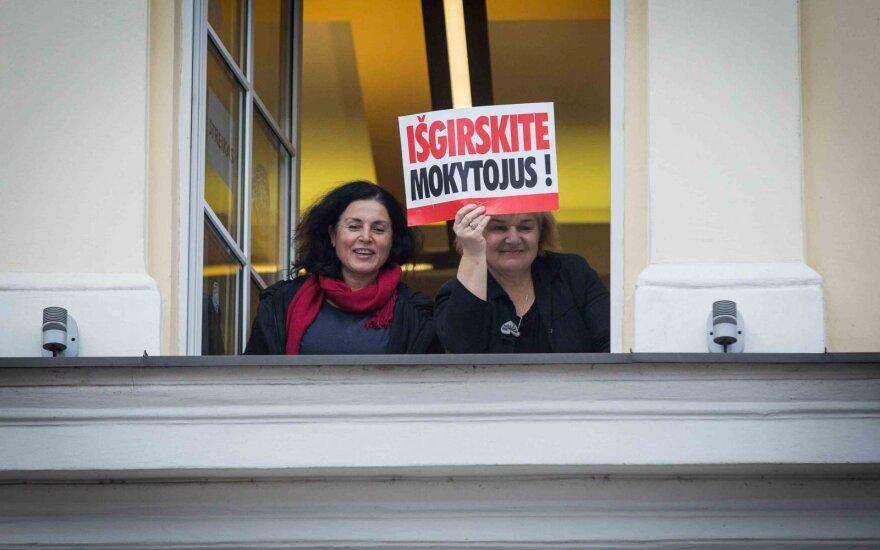 Mokytojai: streiko nebus, bet tik su viena sąlyga