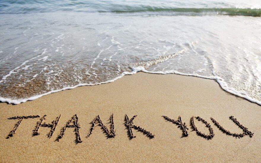 Kaip gyvenimas moko dėkingumo?
