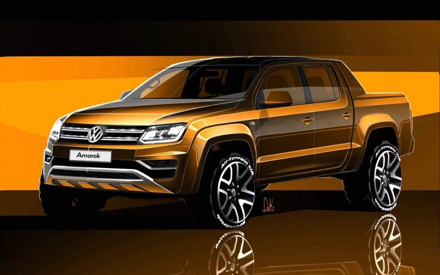"""""""Volkswagen Amarok"""" eskizai"""