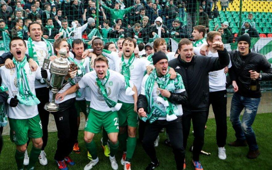 """Klaikiai žaidusiam """"Žalgiriui"""" čempiono titulą padovanojo """"Bangos"""" futbolininkai"""