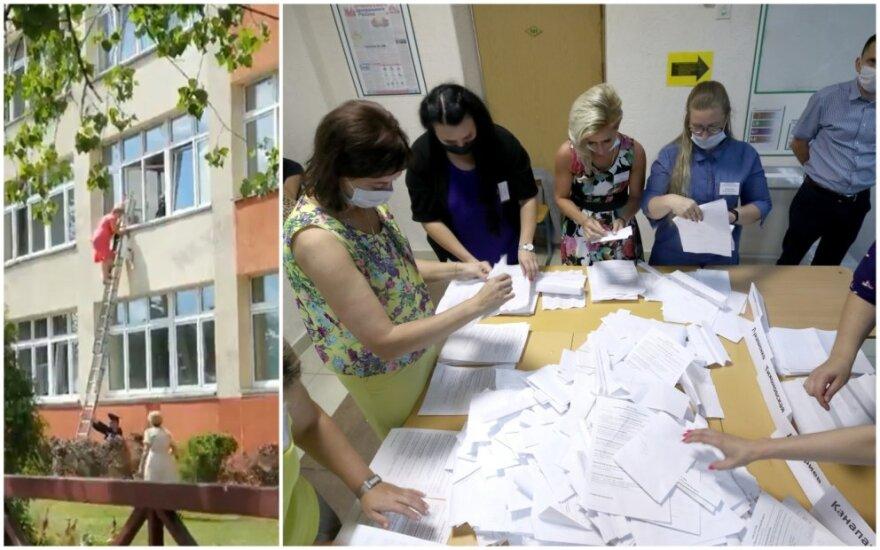 Užfiksuoti rinkimų klastojimo atvejai Minske