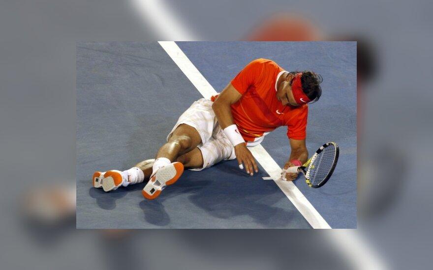 R.Nadalis nebaigė mačo dėl traumos