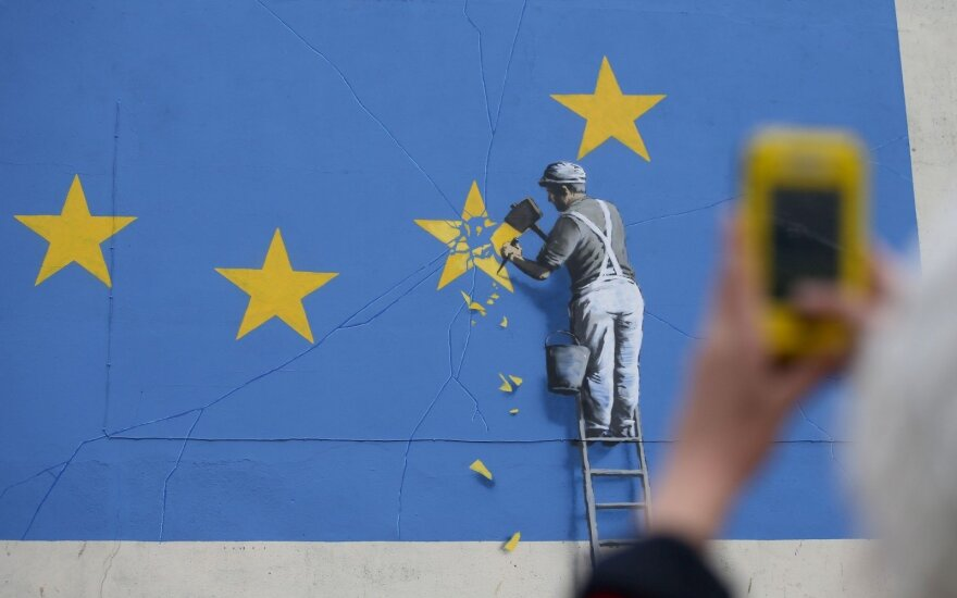 Banksy painting Brexit