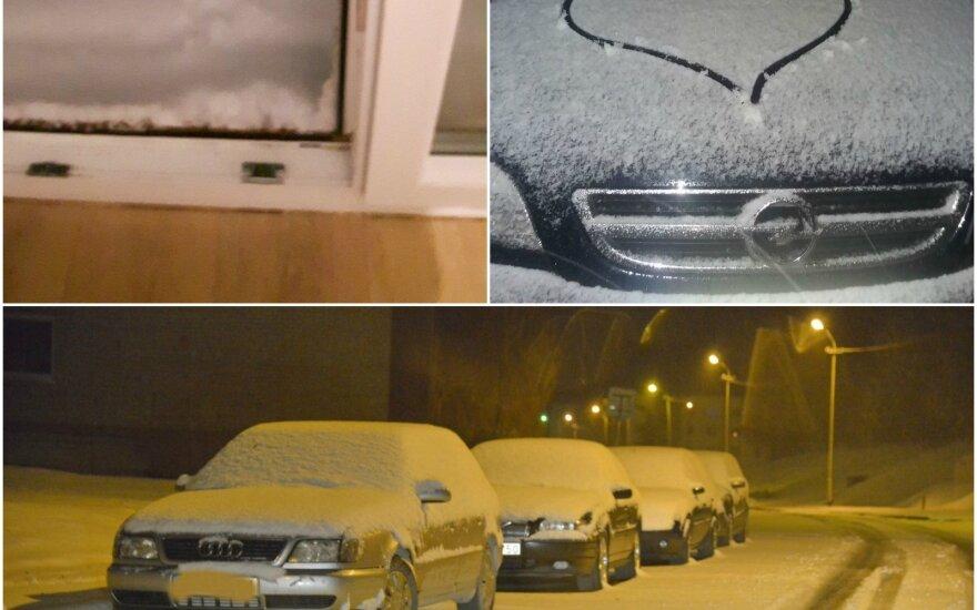 Skaitytojų nuotraukose užfiksuotas pirmasis sniegas Lietuvoje