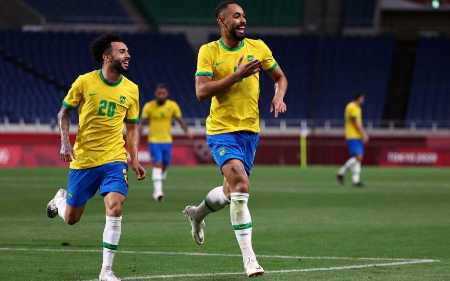 Brazilijos olimpinės rinktinės žaidėjas Matheus Cunha