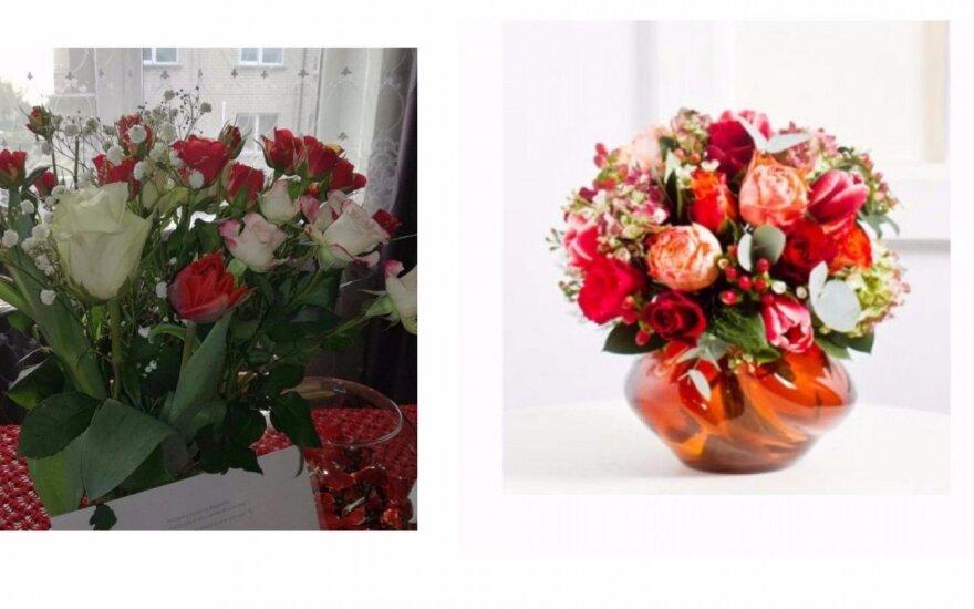 Interflora gėlės