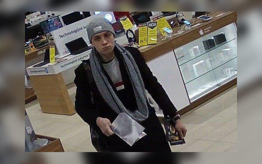 Kauno policija ieško jaunuolio ir nori jam priminti: už prekes mokėti būtina