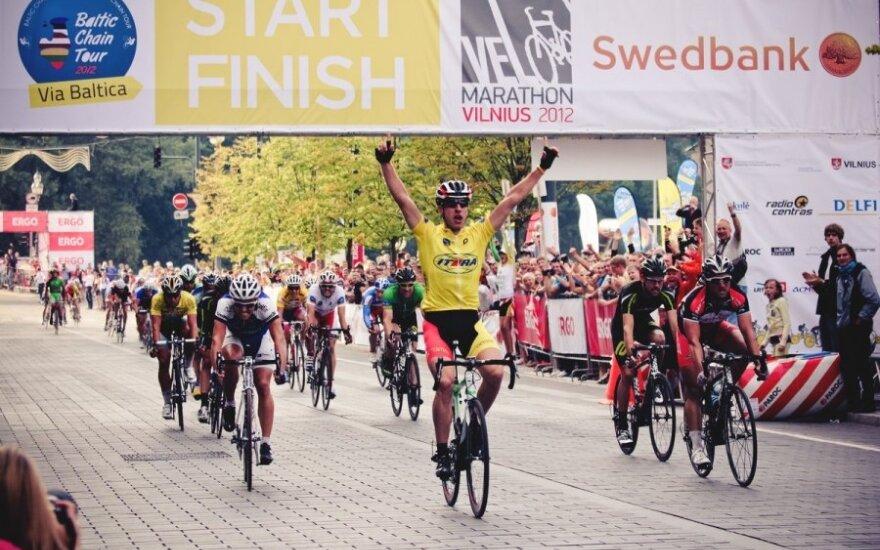 """Velomaratonas 2012: Gedimino Bagdono finišas daugiadienėse Baltijos šalių dviračių plento varžybose """"Baltic Chain Tour 2012"""""""