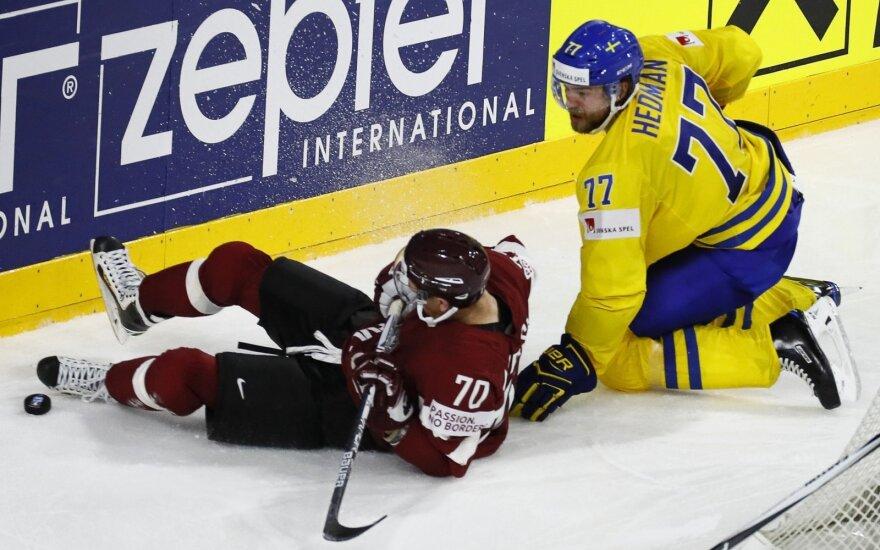 Pasaulio ledo ritulio čempionatas: Latvija – Švedija