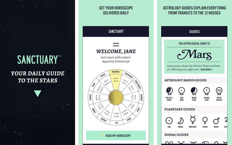 """Nauja programėlė siūlo astrologines prognozes specialiai """"milenialsams"""""""