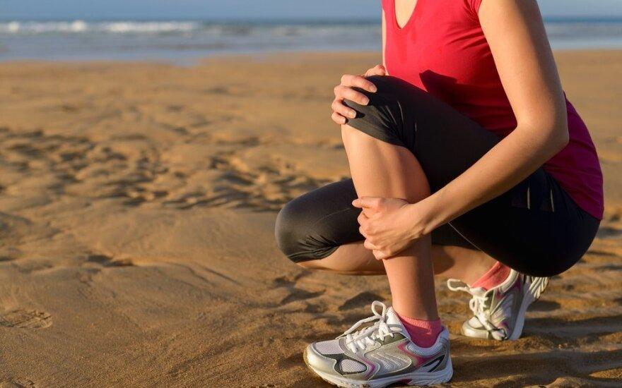 Specialistai: sportas vasarą – ne tik malonumas, bet ir galimos traumos