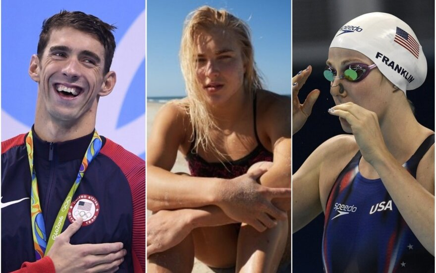 Michaelas Phelpsas, Rūta Meilutytė, Missy Franklin
