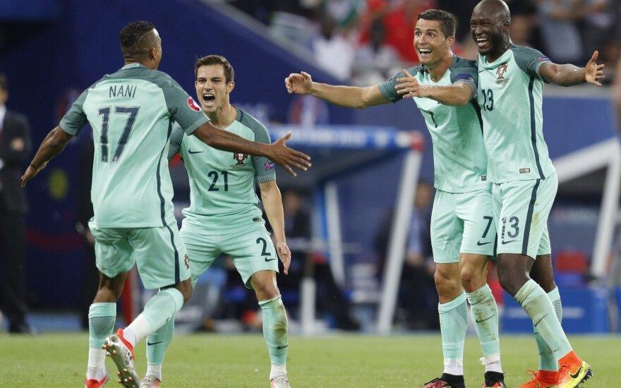 Rekordą pakartojęs C. Ronaldo išvedė Portugaliją į Euro 2016 finalą