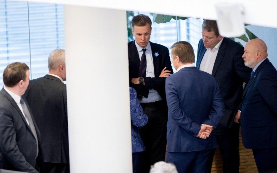Gabrielius Landsbergis, Ramūnas Karbauskis, Andrius Palionis