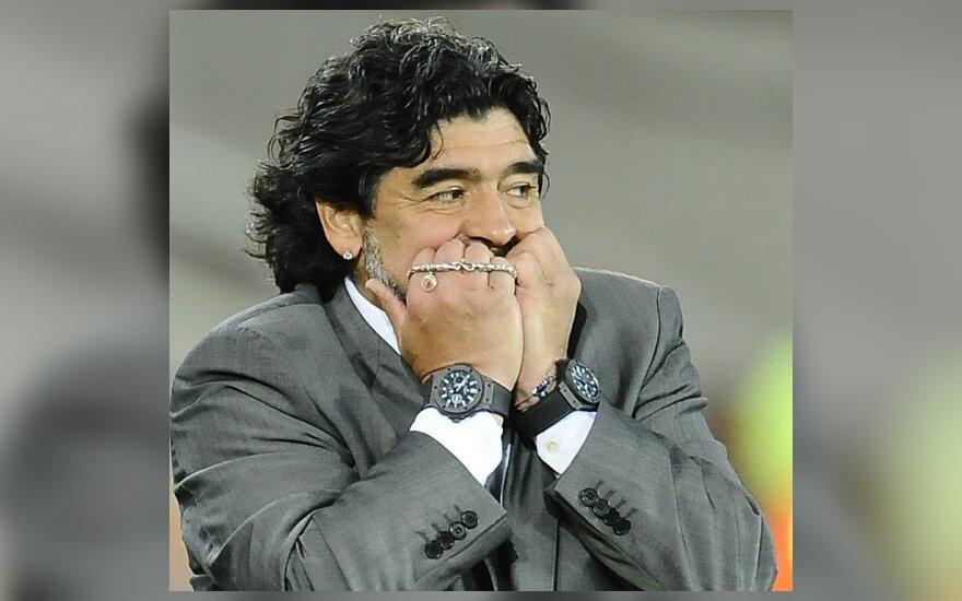 Diego Maradonai nepatiko pražangos prieš Lionelį Messi