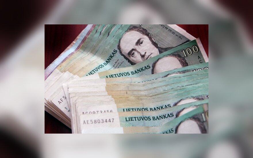 Gegužę indėlių bankuose sumažėjo 513 mln. Lt