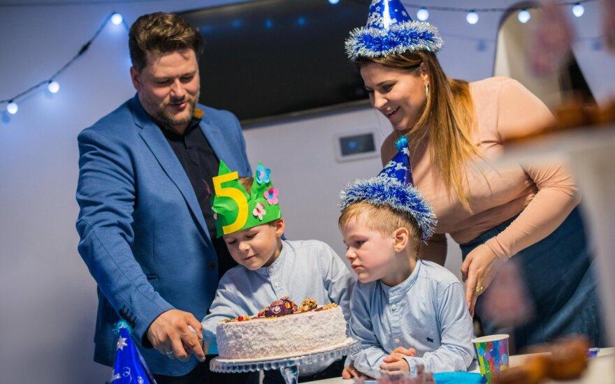 Merūno ir Erikos Vitulskių sūnaus gimtadienio akimirkos /Foto: Rokas Niparavičius