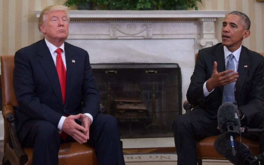 D. Trumpas svečiuose pas B. Obamą