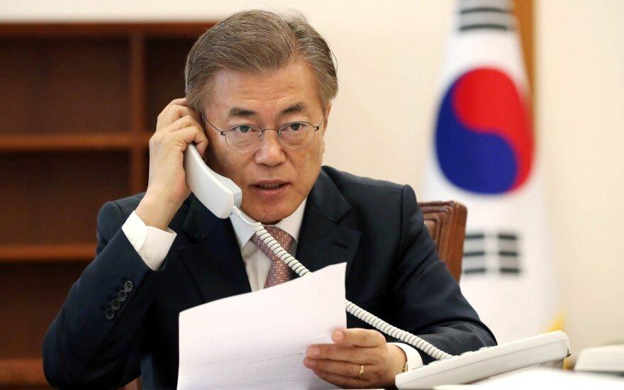 Pietų Korėjos naujasis prezidentas birželį apsilankys JAV