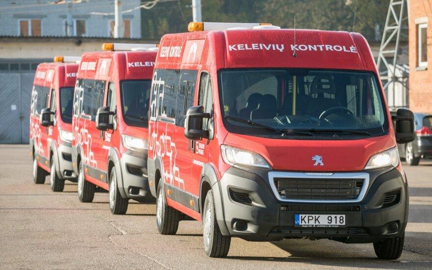 Sostinės viešojo transporto kontrolieriai gavo 5 naujus mikroautobusus