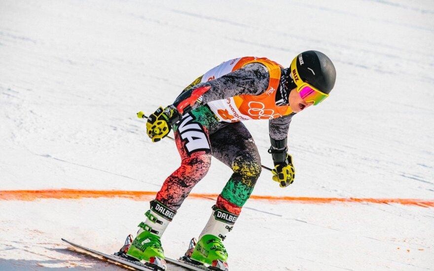 Lietuvos kalnų slidininkas varžybose Italijoje prasibrovė į pirmąjį dešimtuką