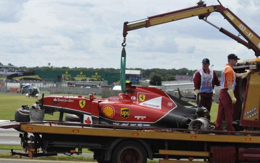 Kimi Raikkoneno automobilis po avarijos