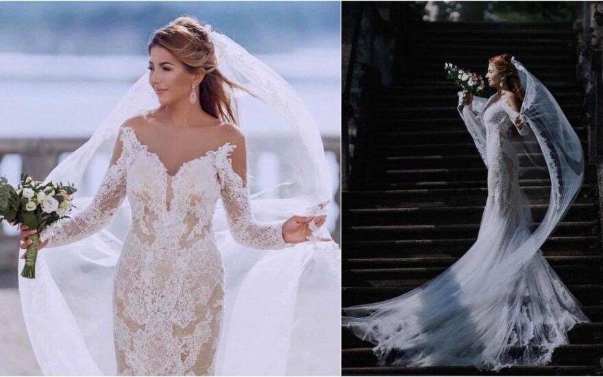 Sofio Gelašvili parduoda vestuvinę suknelę