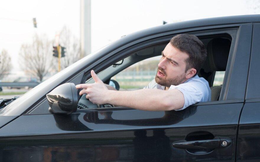 Vairuotojas stresą keliančioje situacijoje.
