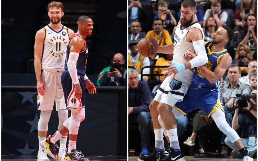 """NBA finišas: Valančiūno laukia kautynės su Curry kariauna, o Sabonio – sunkios """"Play in"""" kapotynės"""