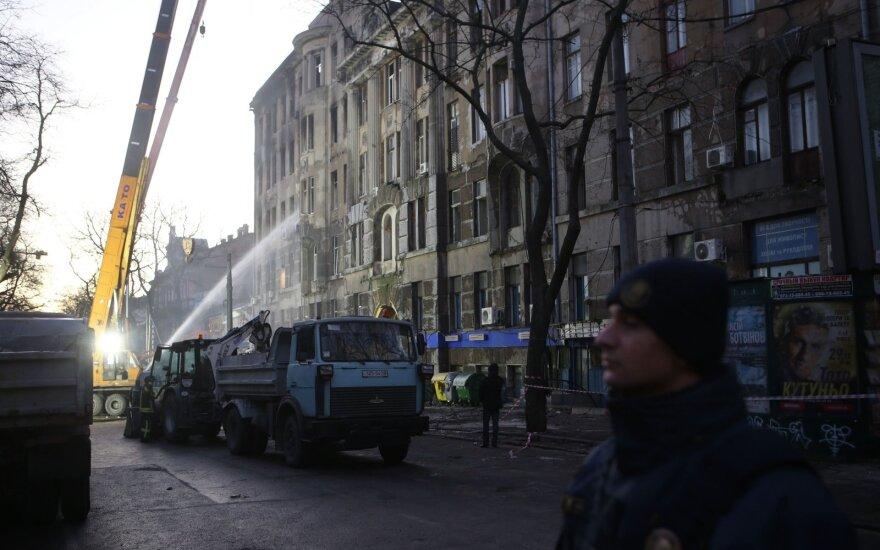 Gaisro Odesos kolegijoje aukų padaugėjo iki 12